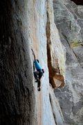 Rock Climbing Photo: Aaron Mike teching out