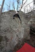 Rock Climbing Photo: Nick working into the Groove, super fun!
