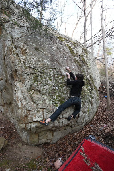 Rock Climbing Photo: Nick mastering the slopers.