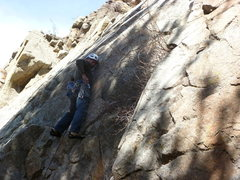 Rock Climbing Photo: At the first bolt.