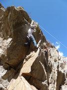 Rock Climbing Photo: Near the hardest moves.