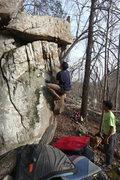 Rock Climbing Photo: Nick Cruising up.