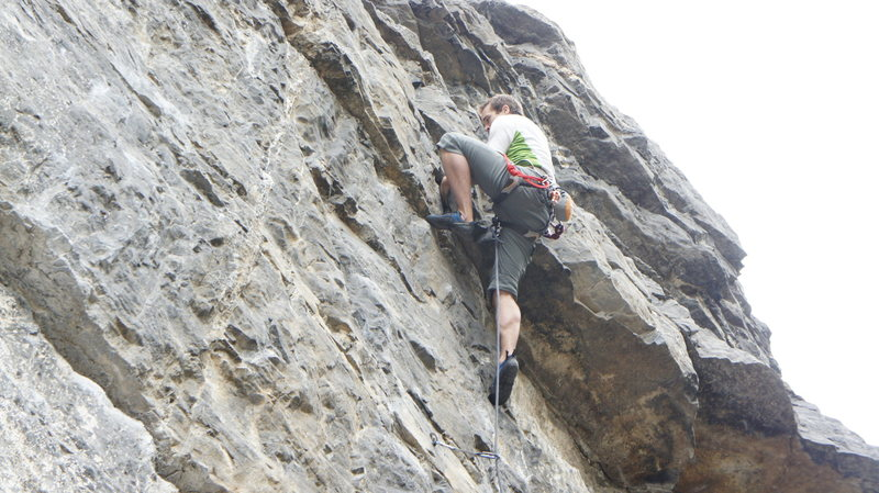 Rock Climbing Photo: Through the crux and getting ready to move toward ...