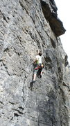 Rock Climbing Photo: Enjoying the bigger holds on Sun King