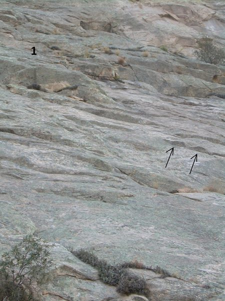 Rock Climbing Photo: Pitch 1 beta
