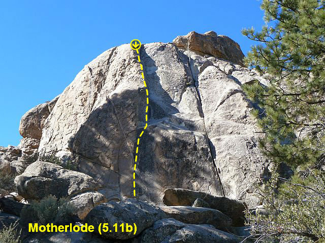Motherlode (5.11b), Holcomb Valley Pinnacles