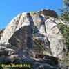 Black Bart (5.11a), Holcomb Valley Pinnacles