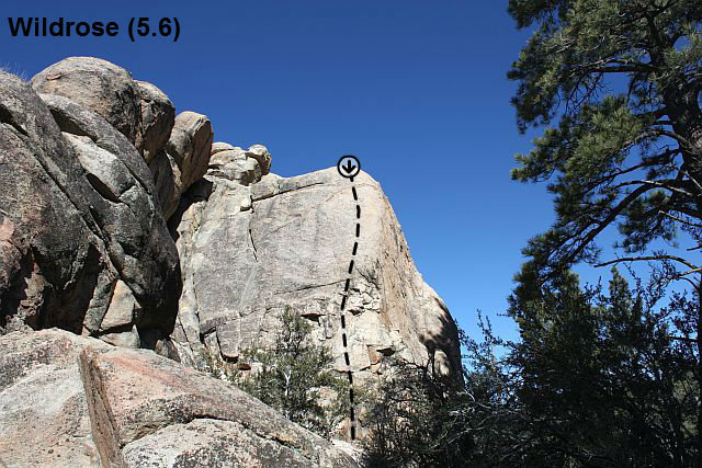 Wildrose (5.6), Holcomb Valley Pinnacles
