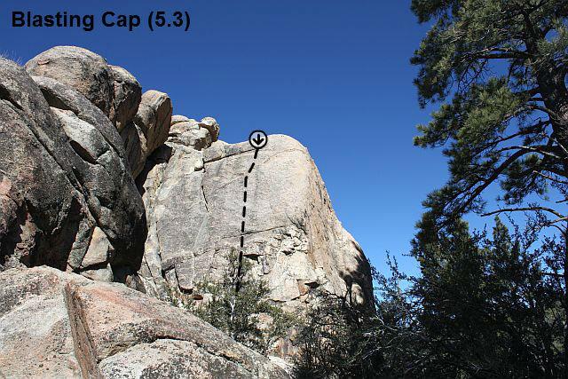 Blasting Cap (5.3), Holcomb Valley Pinnacles