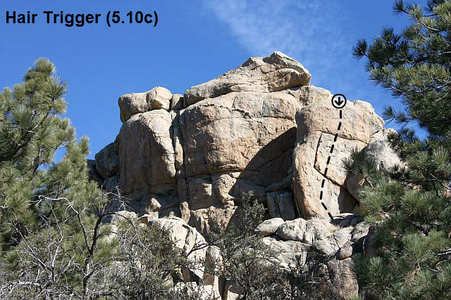 Rock Climbing Photo: Hair Trigger (5.10c), Holcomb Valley Pinnacles