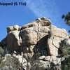Pistol Whipped (5.11a), Holcomb Valley Pinnacles