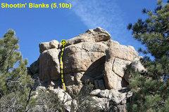 Rock Climbing Photo: Shootin' Blanks (5.10b), Holcomb Valley Pinnacles