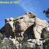 Shootin' Blanks (5.10b), Holcomb Valley Pinnacles