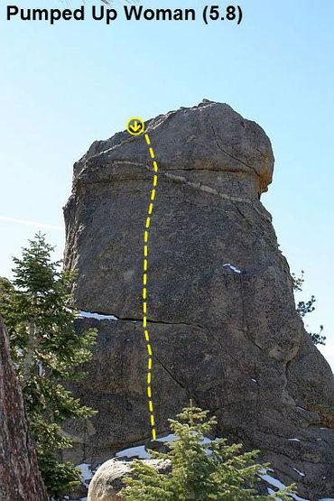 Pumped Up Woman (5.8), Holcomb Valley Pinnacles