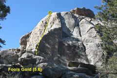 Rock Climbing Photo: Fools Gold (5.6), Holcomb Valley Pinnacles
