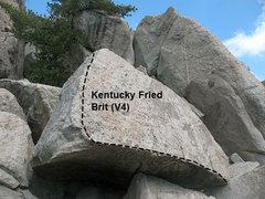 Rock Climbing Photo: Kentucky Fried Brit (V4), Tramway