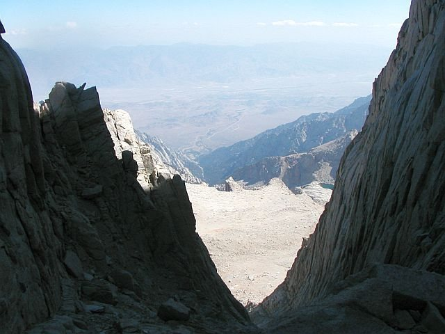 Looking down The Mountaineer's Route, Mt. Whitney