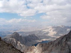 Rock Climbing Photo: Looking north from near the top, Mt. Whitney