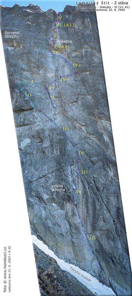 Rock Climbing Photo: Hokejka picture topo
