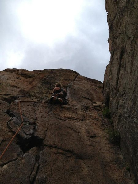 Rock Climbing Photo: Amy Haessly about to enjoy the most quality aspect...