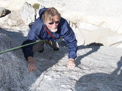 Rock Climbing Photo: Keith Nannery passing the bolt on pitch 1
