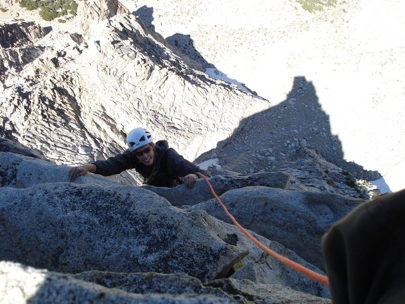 Rock Climbing Photo: Tristan on the final pitch