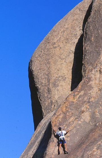 Stairway to Kevin (5.8), Joshua Tree. Photo by Greg Epperson.