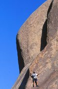 Rock Climbing Photo: Stairway to Kevin (5.8), Joshua Tree. Photo by Gre...