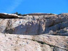 Rock Climbing Photo: Looking up at The Sundeck, Lake Perris SRA