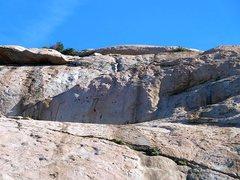 Rock Climbing Photo: Looking up at The Sundeck, Lake Perris SRA