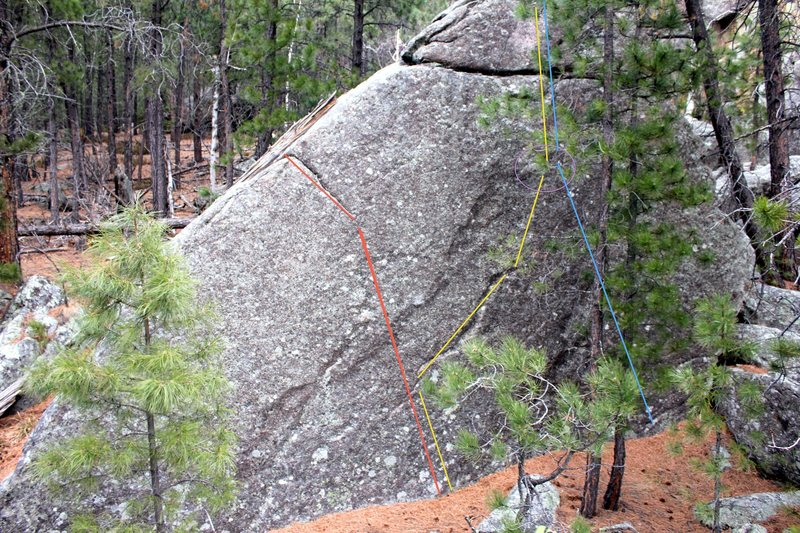 Rock Climbing Photo: commitment issues climbs the line in red V0. no pa...