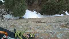 Rock Climbing Photo: taken 4/4/13 - To show how much snow is currently ...