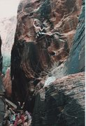 Rock Climbing Photo: Working through the crux