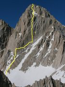 Rock Climbing Photo: Mt. Whitney North Face, hammerless solo FA 5.8 197...