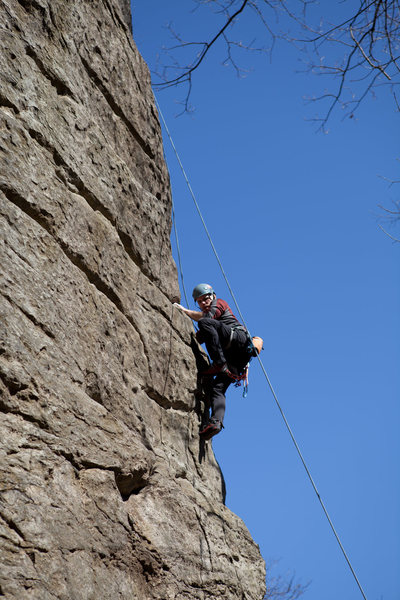 Upper section of Buttress (5.9).