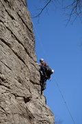 Rock Climbing Photo: Upper section of Buttress (5.9).