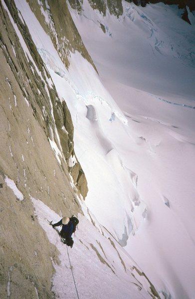 Rock Climbing Photo: climbing the Whillans ramp