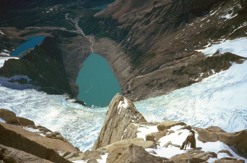 Laguna Sucia, Laguna de Los Tres, from the approach to Poincenot