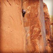 "Rock Climbing Photo: Second Trad Lead ever. ""30 Seconds Over Potas..."