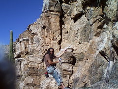 Rock Climbing Photo: The sheik of Canada comes south for a visit.
