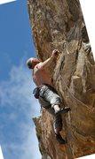 Rock Climbing Photo: JB starting final little headwall.