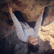Rock Climbing Photo: Just hanging on to some boulder