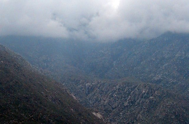 Waterfall from Interstate 10, San Jacinto Mountains