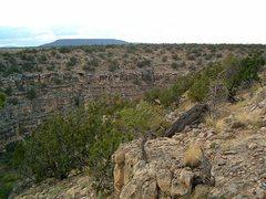 Rock Climbing Photo: Looking down towards the Casino Cliffs, Jacks Cany...