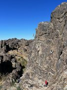 Rock Climbing Photo: Climbing on Raven Rocks South, NJC