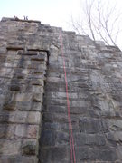 Rock Climbing Photo: Route directly to the right of the center outcropp...