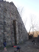 Rock Climbing Photo: Shot of the main wall with the center outcropping....