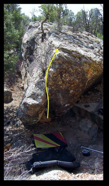 Rock Climbing Photo: Pretense problem beta.