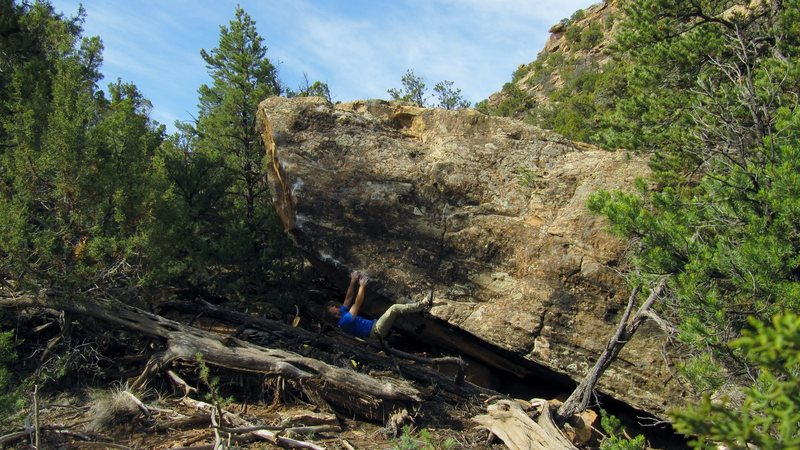 Rock Climbing Photo: A few moves into the Awoman problem on Mistress Bo...