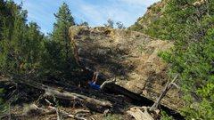 Rock Climbing Photo: A few moves into the Awoman problem on Mistress Bo...